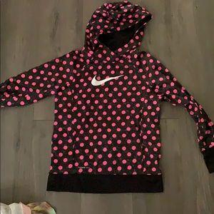 polka dot nike hoodie youth XL